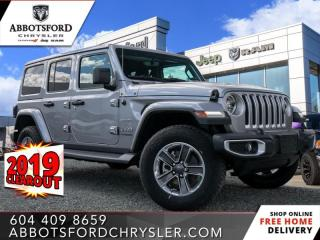 New 2019 Jeep Wrangler Unlimited Sahara  - Heated Seats - $327 B/W for sale in Abbotsford, BC