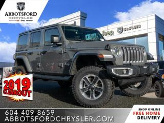 New 2019 Jeep Wrangler Unlimited Sahara  - Leather Seats - $396 B/W for sale in Abbotsford, BC