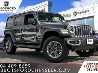 New 2020 Jeep Wrangler Unlimited Sahara  - Leather Seats - $348 B/W for sale in Abbotsford, BC