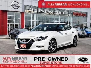 Used 2016 Nissan Maxima SV   Remote Start   Heated Steering   Navi   Fogs for sale in Richmond Hill, ON