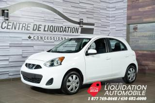 Used 2017 Nissan Micra SV GR,ÉLECT+A/C for sale in Laval, QC