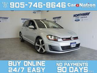 Used 2016 Volkswagen GTI AUTOBAHN  5DR HATCH   SUNROOF   NAV   ONLY 66 KM! for sale in Brantford, ON
