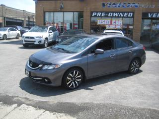 Used 2014 Honda Civic Sedan 4dr  Touring Leather Sunroof Navi R&Side Camera for sale in North York, ON