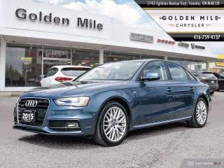 Used 2015 Audi A4 2.0T Komfort plus Komfort plus One Owner, Off lease, Brand New Rear Brakes for sale in North York, ON