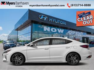 New 2020 Hyundai Elantra Sport Manual  - Sunroof -  Leather Seats - $166 B/W for sale in Nepean, ON