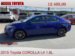 Used 2015 Toyota Corolla toit ouvrant for sale in Rouyn-Noranda, QC
