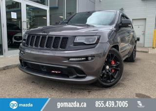 Used 2015 Jeep Grand Cherokee SRT - 6.4L BEAST, 4X4, HARMON KARDON SOUND SYSTEM, ALCANTERRA LEATHER SEATING, SUNROOF, FULL JAM! for sale in Edmonton, AB
