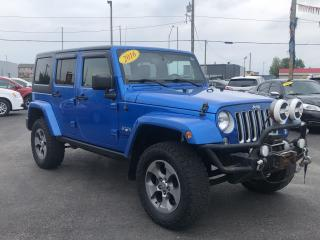 Used 2016 Jeep Wrangler SAHARA*2TOPS*4X4*NAV for sale in London, ON