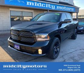 Used 2016 RAM 1500 Sport 4X4 HEMI 5.7L V8/ TONNEAU/ NAV/ LEATHER/ CAM for sale in Niagara Falls, ON