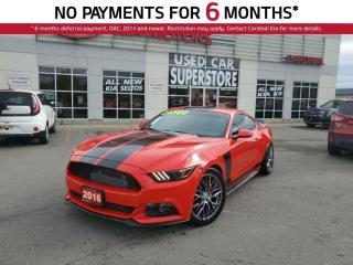 Used 2016 Ford Mustang Ecoboost, 6 Speed Manual, Upgraded Exhaust. for sale in Niagara Falls, ON