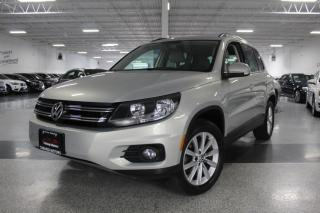 Used 2014 Volkswagen Tiguan 4MOTION I LEATHER I PANOROOF I HEATED SEATS I BIG SCREEN for sale in Mississauga, ON