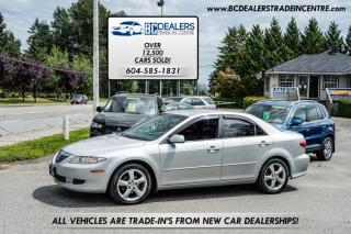 Used 2004 Mazda MAZDA6 Sedan, Leather, Alloy Wheels, Affordable, Automatic, Clean! for sale in Surrey, BC