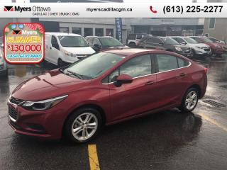 Used 2016 Chevrolet Cruze LT  LT, REAR VISION CAM, REMOTE START, HEATED SEATS, AUTO for sale in Ottawa, ON