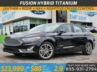 Used 2019 Ford Fusion Hybrid HYBRID TITANIUM| LEATHER|ROOF|NAV| ADAPTIVE CRUISE for sale in Scarborough, ON