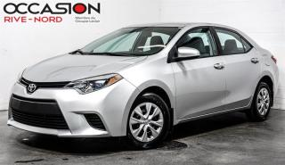 Used 2015 Toyota Corolla CE BLUETOOTH+A/C for sale in Boisbriand, QC