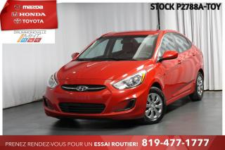 Used 2016 Hyundai Accent CLIMATISATION| AUTOMATIQUE| TRÈS PROPRE!| for sale in Drummondville, QC