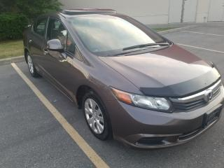 Used 2012 Honda Civic EX ,SUNROOF for sale in Mississauga, ON