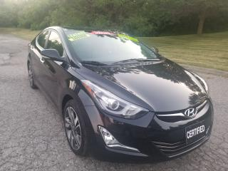 Used 2014 Hyundai Elantra Limited, LEATHER, SUNROOF, ALLOY WHEELS, NO ACCIDE for sale in Mississauga, ON