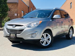 Used 2011 Hyundai Tucson Limited|TEXT US. 647.678.7778|HOME DELIVERY| BACKUPCAMERA|LEATHER|HEATEDSEATS| for sale in Mississauga, ON