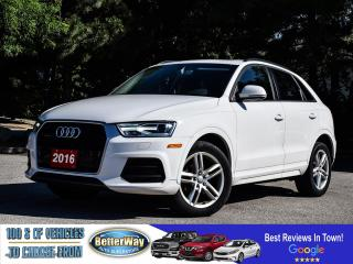 Used 2016 Audi Q3 Komfort |LEATHER |AWD | SUNROOF |HEAT SEATS for sale in Stoney Creek, ON