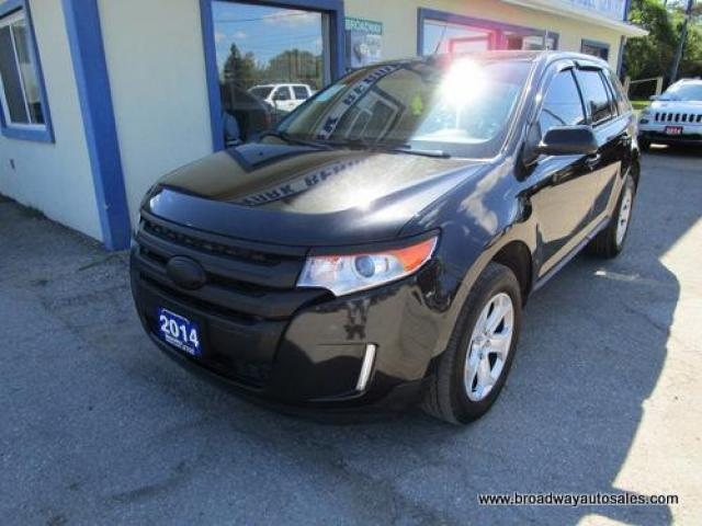 2014 Ford Edge ALL-WHEEL DRIVE SEL EDITION 5 PASSENGER 3.5L - V6.. NAVIGATION.. LEATHER.. HEATED SEATS.. BLUETOOTH SYSTEM.. DUAL SUNROOF.. BACK-UP CAMERA..