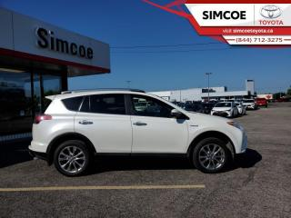 Used 2018 Toyota RAV4 AWD Hybrid Limited  - Certified - $267 B/W for sale in Simcoe, ON