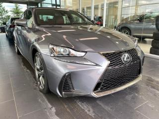 Used 2018 Lexus IS F-SPORT SERIES 3, ACCIDENT FREE, SUNROOF, POWER HEATED/VENTED LEATHER SEATS for sale in Edmonton, AB