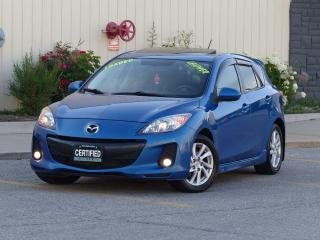 Used 2012 Mazda MAZDA3 LEATHER,GS-SKY,HATCHBACK,SPORTS,FULLY LOADED,CERTI for sale in Mississauga, ON