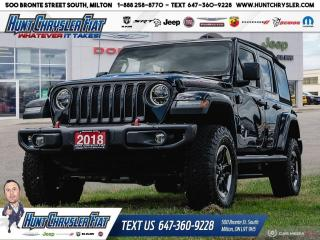 Used 2018 Jeep Wrangler Unlimited RUBICON | LEATHER | DUAL TOP | NAV | SAFETY!!! for sale in Milton, ON