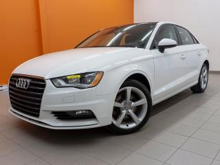 Used 2016 Audi A3 2.0T KOMFORT QUATTRO *TOIT* SIEGES CHAUFF* PROMO for sale in St-Jérôme, QC