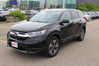 Used 2017 Honda CR-V Accident Free, One Owner CR-V LX AWD Leased New Right Here at Waterloo Honda! Certified Powertrain W for sale in Waterloo, ON