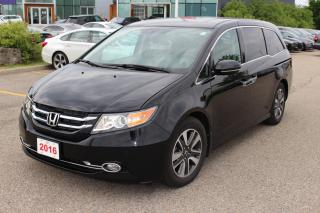 Used 2016 Honda Odyssey Sold Pending Customer Delivery! Accident Free, One Owner Odyssey Touring Leased New Right Here at Wa for sale in Waterloo, ON