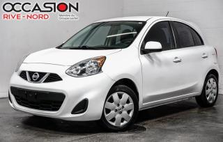 Used 2016 Nissan Micra SV BLUETOOTH+A/C+GR.ELECTIQUE for sale in Boisbriand, QC
