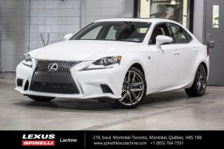 Used 2016 Lexus IS 350 F SPORT II AWD; **RESERVE / ON-HOLD** INTÉRIEUR ROUGE - 306 CHEVAUXNAVIGATION - MONITEUR ANGLES MORT - TOIT-OUVRANT - CAMÉRA DE RECUL for sale in Lachine, QC