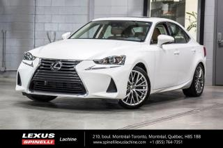 Used 2017 Lexus IS 300 LUXURY AWD; CUIR TOIT GPS ANGLES MORT LSS+ BAS KILOMÉTRAGE - NAVIGATION - MONITEUR ANGLES MORT - SONAR DE STATIONNEMENT - PRÉ-COLLISION for sale in Lachine, QC