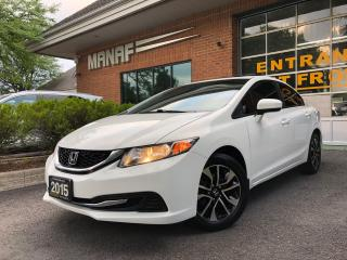 Used 2015 Honda Civic Man EX Sunroof Heated Seated Rear Cam Certified* for sale in Concord, ON
