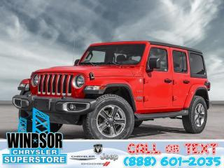 New 2020 Jeep Wrangler Unlimited Sahara for sale in Windsor, ON