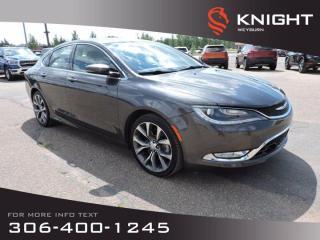 Used 2015 Chrysler 200 C | Heated/Cooled Seats | Nav.| Adaptive Cruise | Premium Sound | Pana Sunroof for sale in Weyburn, SK
