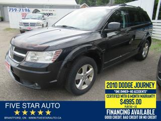 Used 2010 Dodge Journey SXT *No Accidents* Certified w/ 6 Mth Warranty for sale in Brantford, ON