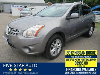 Used 2012 Nissan Rogue S AWD - Certified w/ 6 Month Warranty for sale in Brantford, ON