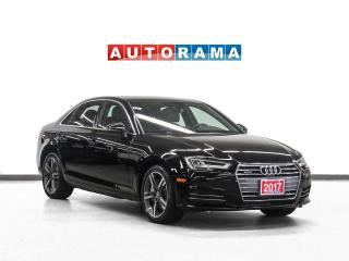 Used 2017 Audi A4 Quattro Technik Nav Leather Sunroof 360 Camera for sale in Toronto, ON