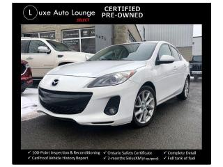 Used 2012 Mazda MAZDA3 6 SPEED GT, LEATHER, HEATED SEATS, SUNROOF!! for sale in Orleans, ON