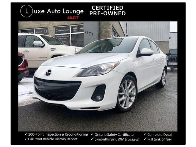 2012 Mazda MAZDA3 6 SPEED GT, LEATHER, HEATED SEATS, SUNROOF!!