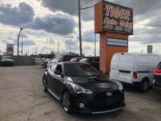 Used 2013 Hyundai Veloster Turbo*LEATHER*ROOF*ONLY 132KM*NAV*CERTIFIED for sale in London, ON