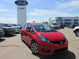 Used 2014 Honda Fit Sport for sale in Lacombe, AB