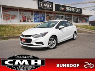Used 2016 Chevrolet Cruze LT  ROOF HS CAM P/SEAT BT ALLOYS for sale in St. Catharines, ON