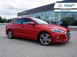 Used 2017 Hyundai Elantra LOW KM | 1 OWNER | SUNROOF  - $105 B/W for sale in Brantford, ON