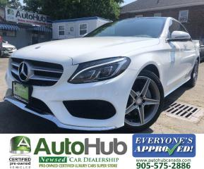 Used 2017 Mercedes-Benz C-Class C300-LEATHER-NAV-360 CAMERA-PARKING SENSORS-PANO. ROOF-POWER TRUNK for sale in Hamilton, ON