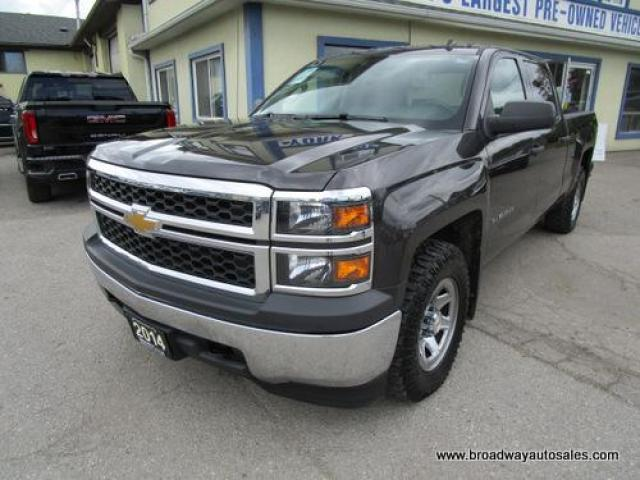 2014 Chevrolet Silverado 1500 WORK READY LS EDITION 6 PASSENGER 5.3L - VORTEC.. 4X4.. CREW-CAB.. SHORTY.. TRAILER BRAKE.. TOW SUPPORT.. KEYLESS ENTRY.. AUX/USB INPUT..