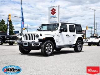 Used 2019 Jeep Wrangler Sahara 4x4 ~Nav ~Cam ~Heated Leather Seats + Wheel for sale in Barrie, ON